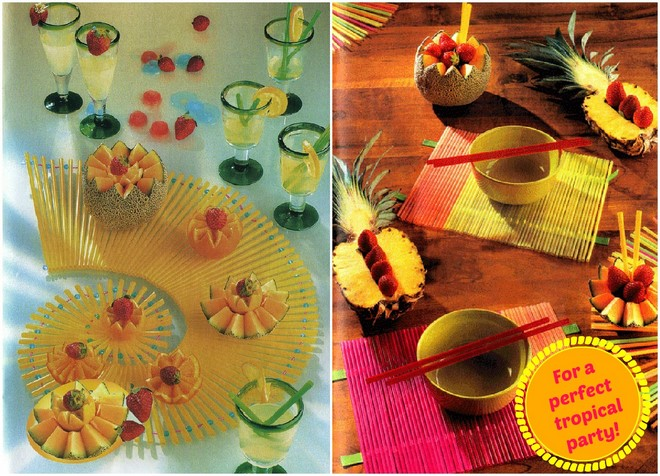 drinking-straws-crafts-diy-table-mat-decorations-exotic-tropical-party