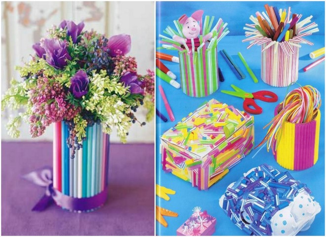 drinking-straws-crafts-preschoolers-flower-vase-pen-holders