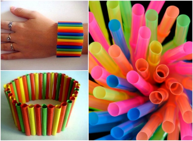 drinking-straws-crafts-toddlers-bracelet-plastic-straws-colorful-fun