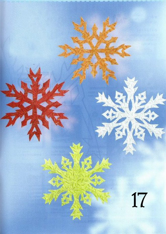 circle paper snowflakes diy red orange yellow white