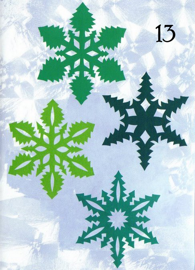 cool designs paper snowflakes green trees