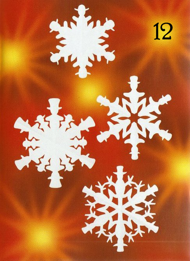 decorating with paper snowflakes white wax paper snowman design
