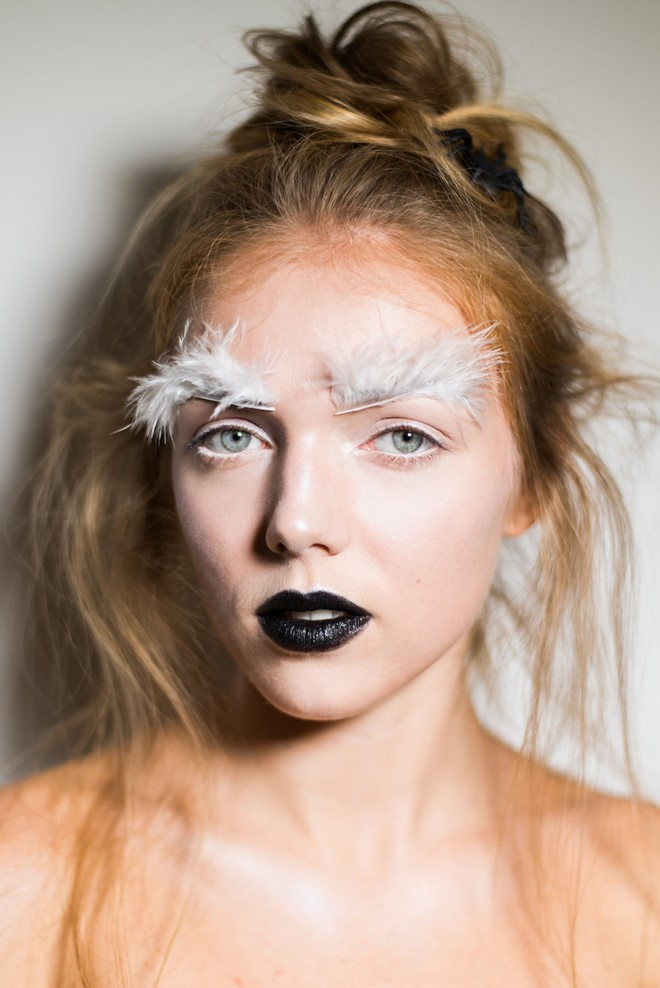 last minute halloween makeup simple fallen angel