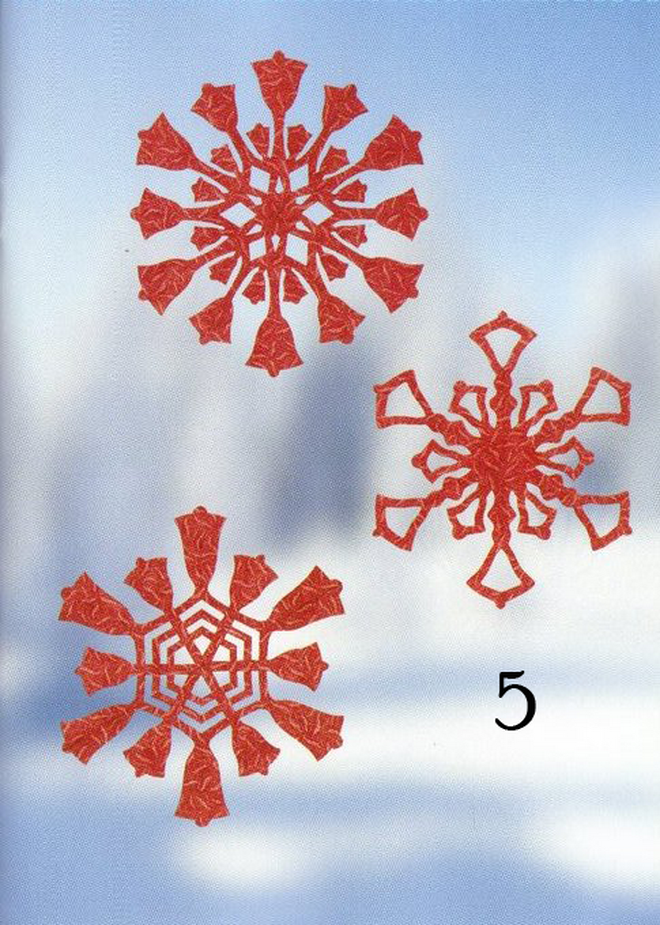 paper snowflakes christmas decorations bells