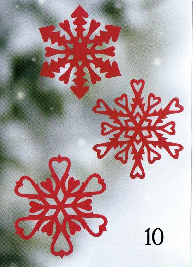 valentine's day paper snowflakes kids craft red paper