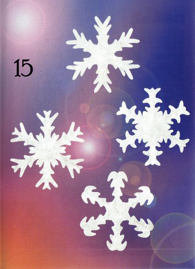 white paper snowflakes unusual designs wax paper