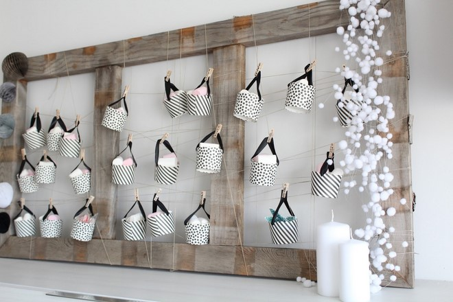 diy christmas decoration hanging cups advent calendar