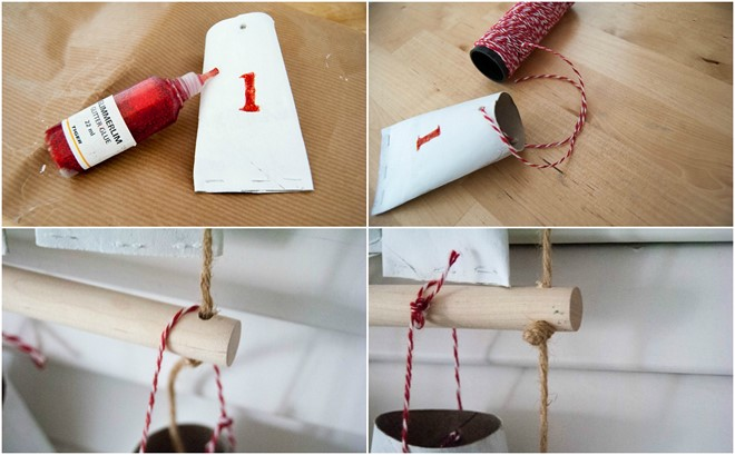 how to make christmas hanging pockets homemade decoration idea