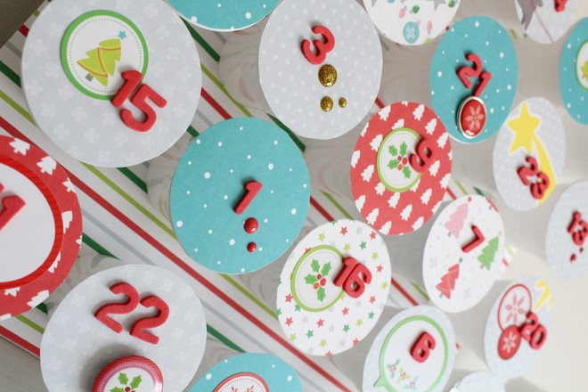 plastic cups with candies advent calendar ideas for kids