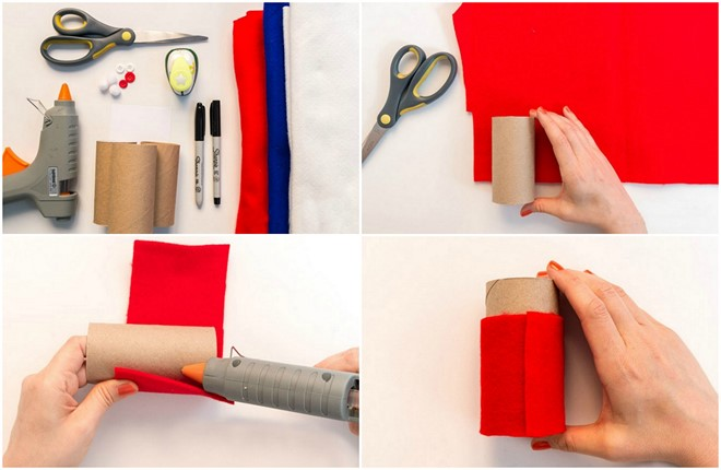recycling toilet paper rolls homemade advent calendar tutorial used materials