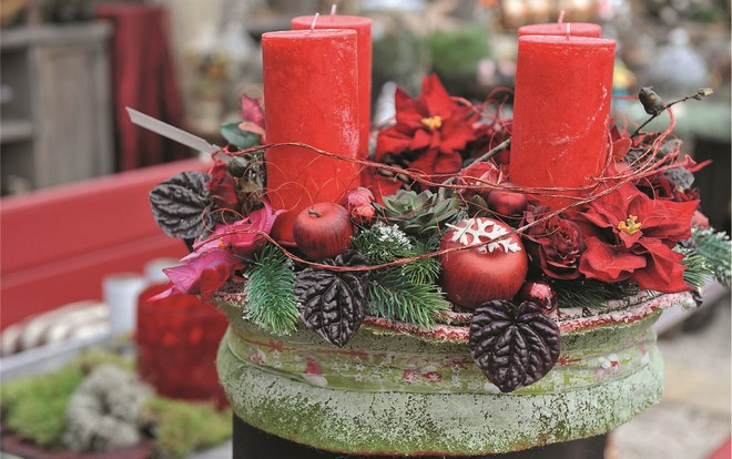 diy outdoor christmas decorations rustic style candle holder christmas star flower festive idea