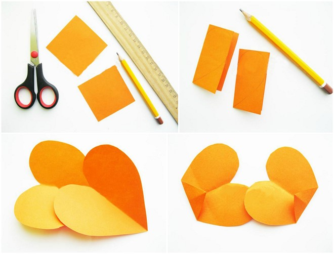chicken orange paper shape