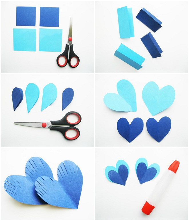 fish heart shapes tutorial kids