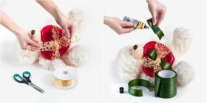fresh flower gifts valentine's day ideas tie a heart with beautiful golden ribbon