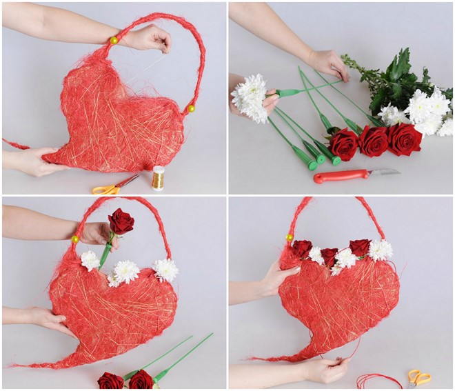 handmade valentine's day bag for her ideas for flower gifts