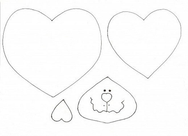 heart animals template cats
