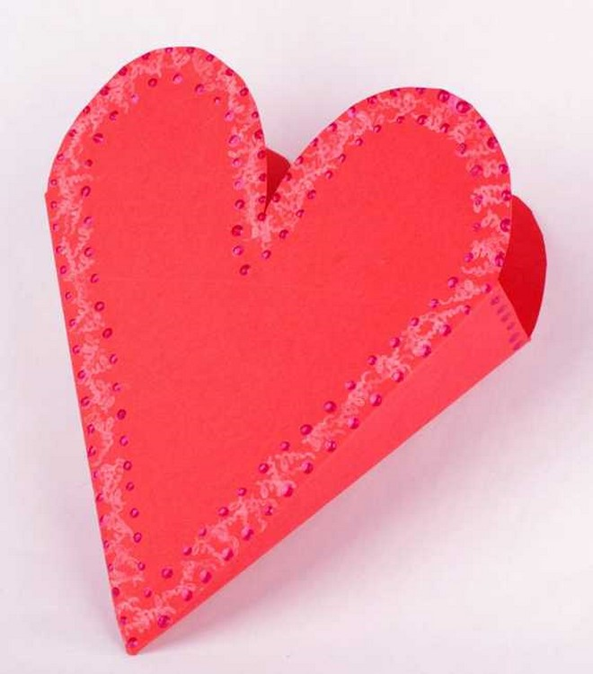 heart shaped cardboard gift box diy template