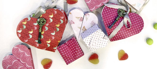 heart shaped paper boxes for gift
