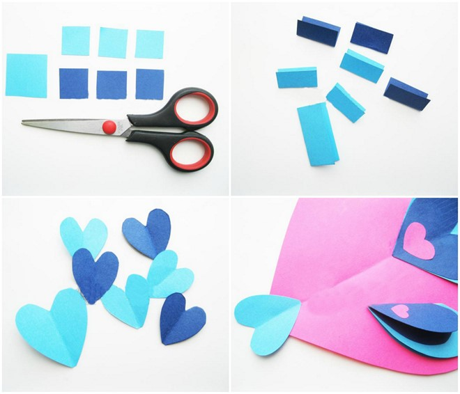 heart shaped valentine animals fish tutorial