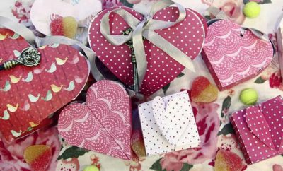 how to make a heart shaped gift box tutorial
