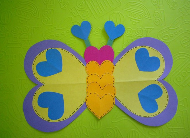 love heart animals butterfly craft idea
