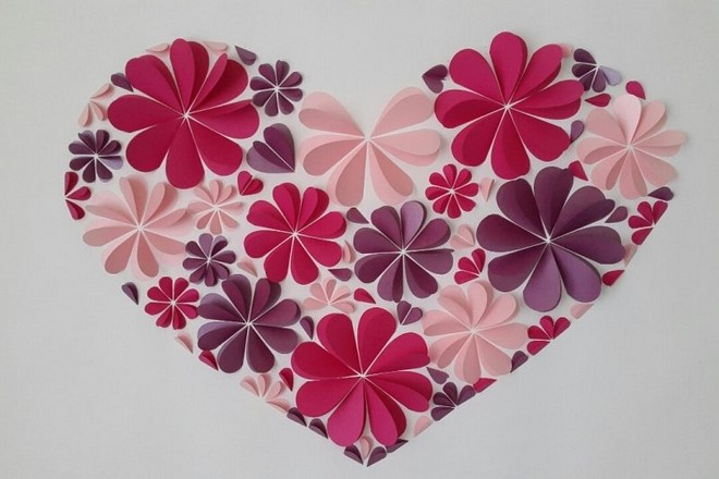 paper art and craft for kids heart flowers valentines day