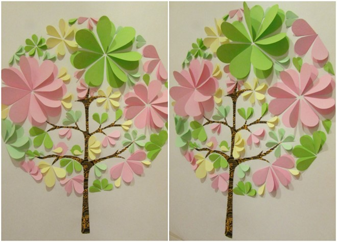 paper art flower easy tree framed artwork