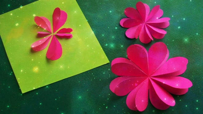 paper art greeting card flower 3d valentines day