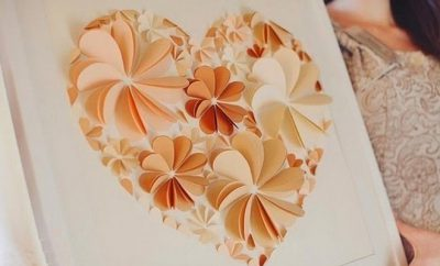 paper art techniques 3d folded hearts flowers