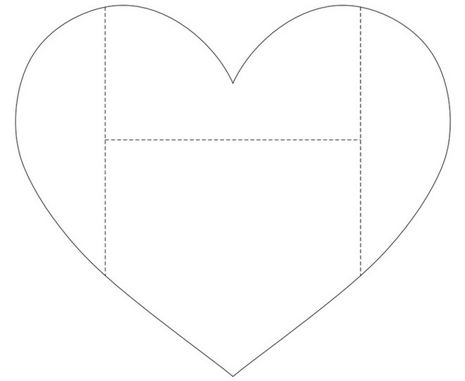 paper art templates heart
