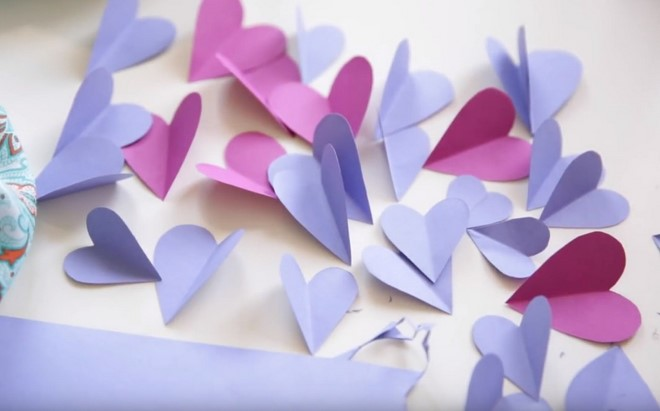 How to make 3d flower paper artwork easy craft idea for kids and quick easy way to cut out lots of paper hearts mightylinksfo