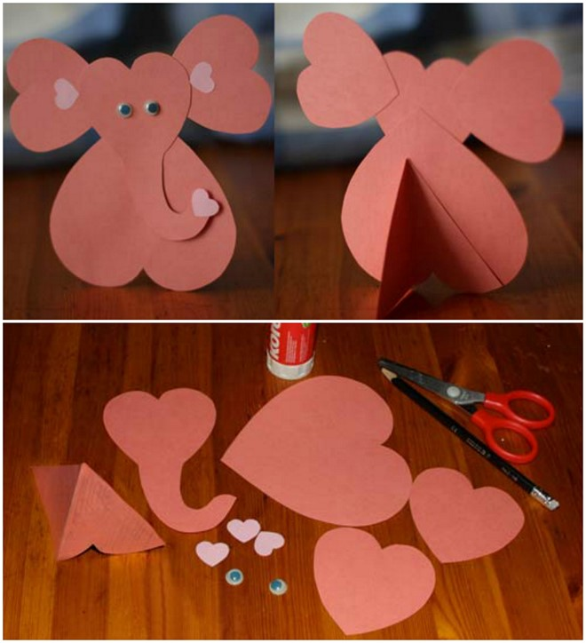 small heart animals elephant