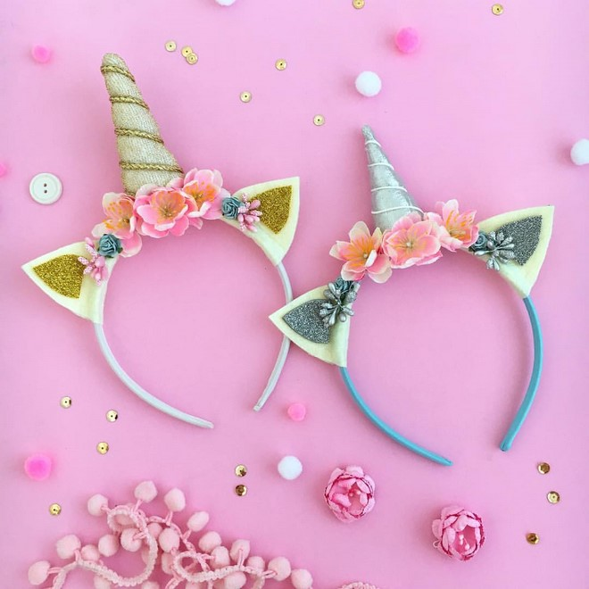 diy floral unicorn headband ideas kids adults