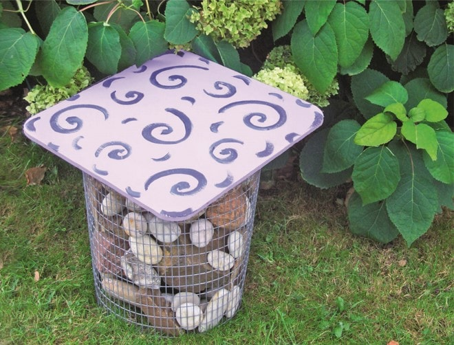 diy patio decoration cheap metal garden stool