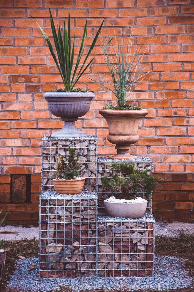diy stone decoration gabion decorative garden elements