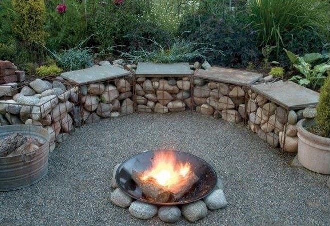 Incredible This Is How To Build A Gabion Bench Seat And Stools For Your Gmtry Best Dining Table And Chair Ideas Images Gmtryco