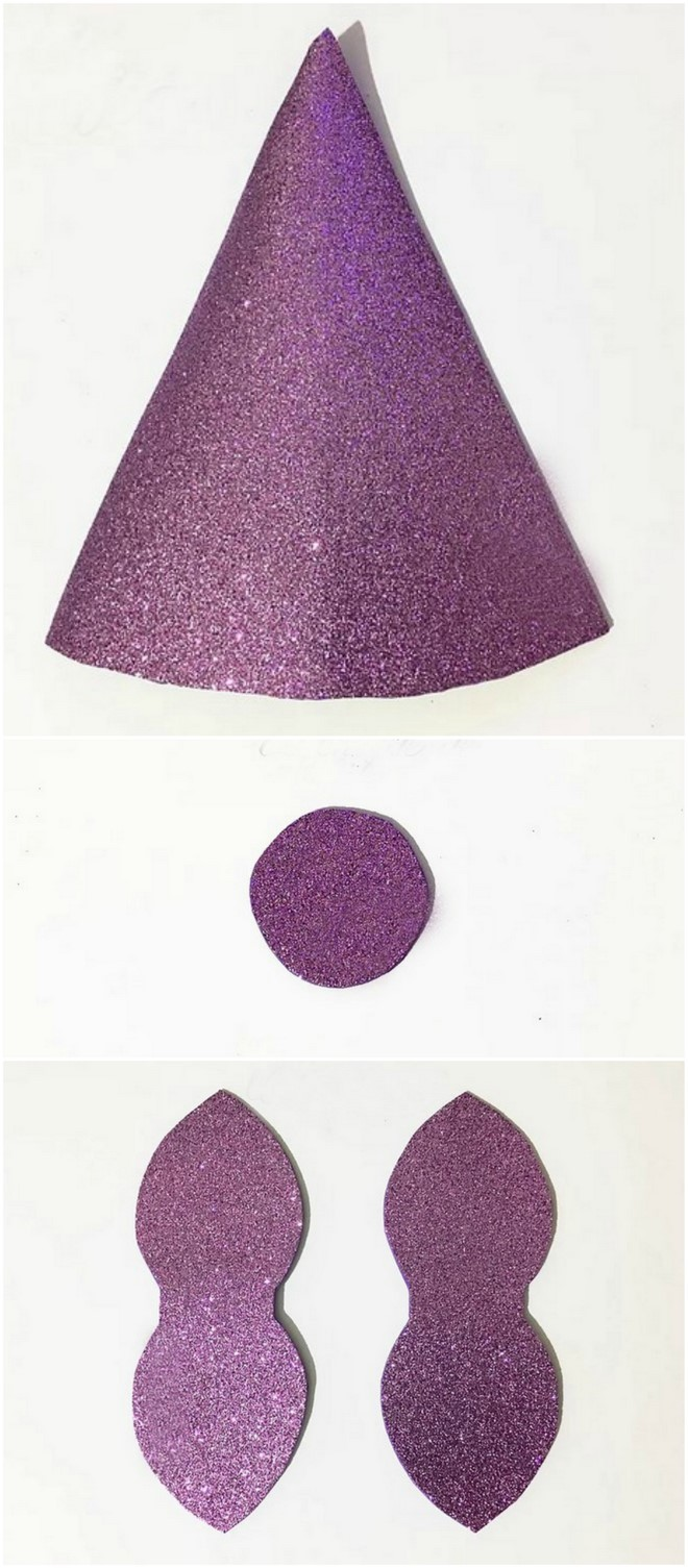 how to make a unicorn horn headband templates purple