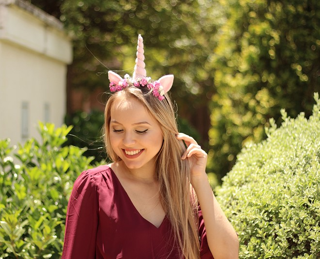 unicorn headband for adults festival mood