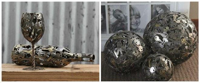 creative artwork using old keys