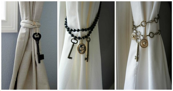 curtain tie back ideas for using old keys