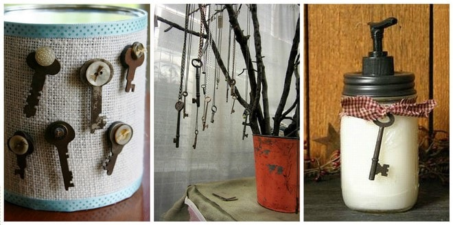 decoration ideas for displaying old keys