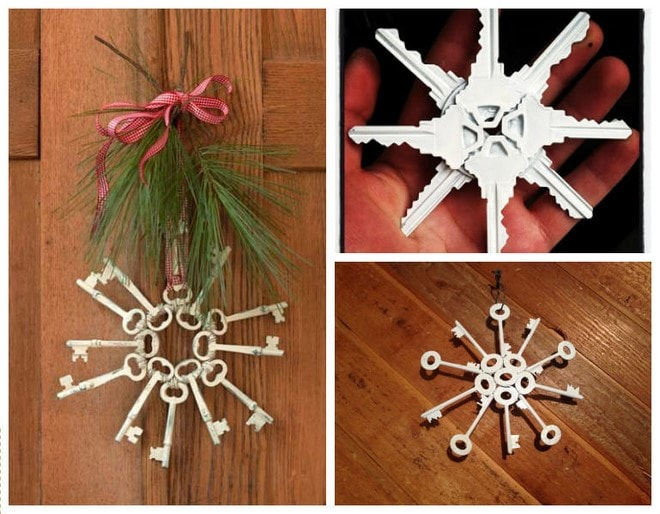 diy crafts with old keys handmade christmas tree ornaments