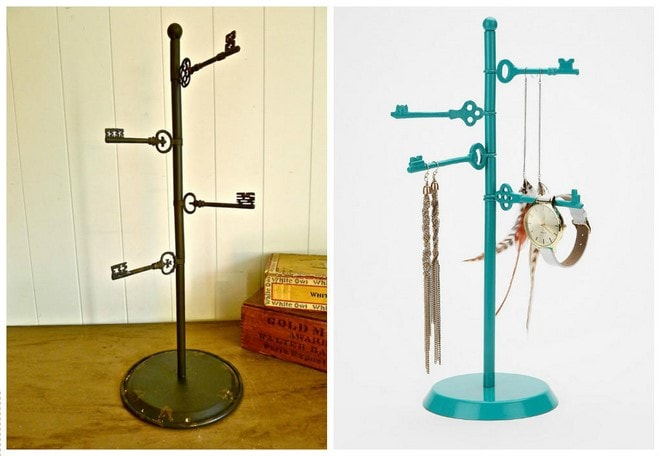 diy jewelry storage cool things to do with old keys