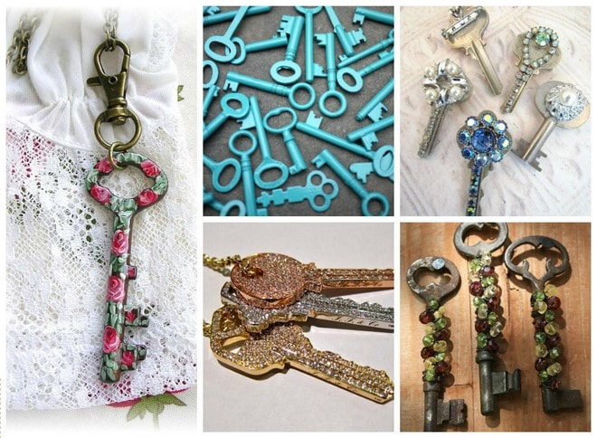diy keychain using old keys in crafts