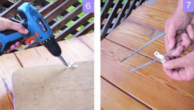 diy metal brackets stool top plywood board