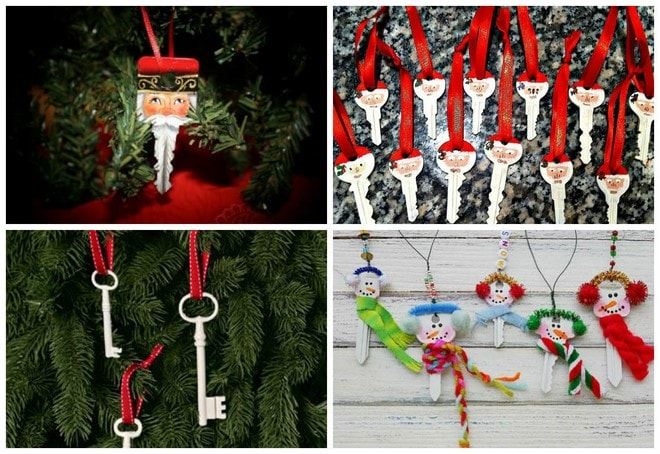 fun things to do with old keys christmas tree ornaments