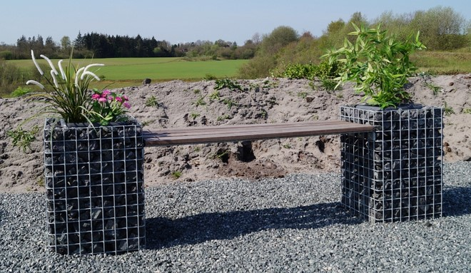 This Is How To Build A Gabion Bench Seat And Stools For