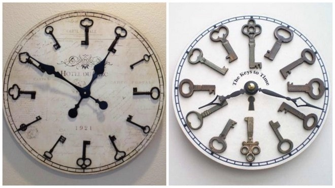 handmade clock creative uses for old keys
