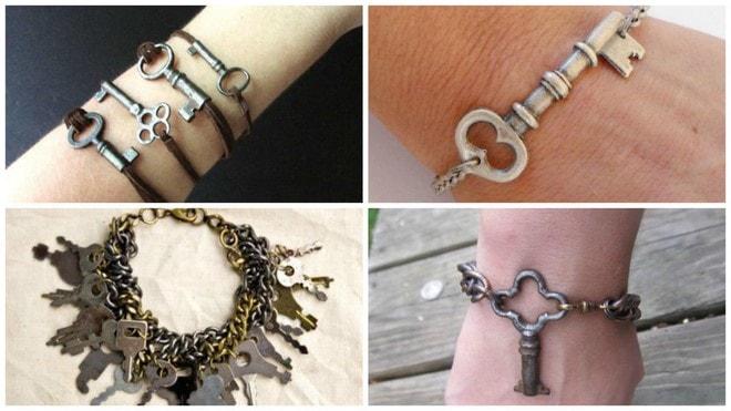 old keys diy jewelry unique bracelet