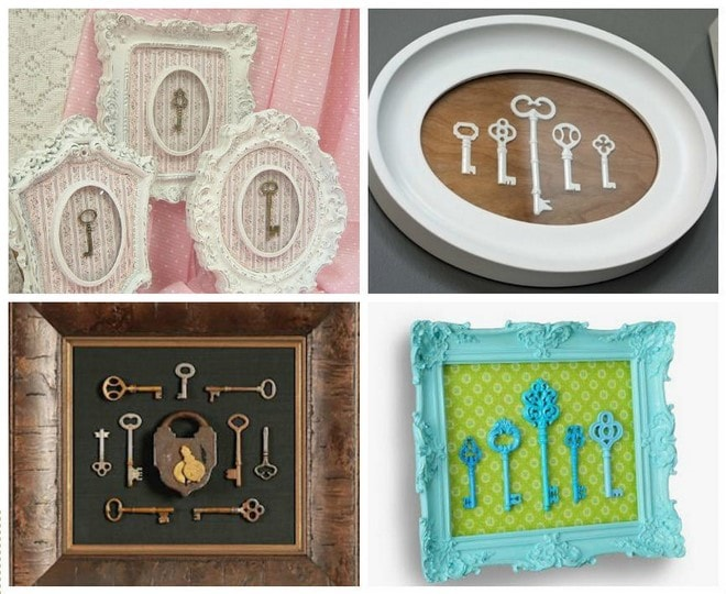 wall decor ideas what do you do with old keys